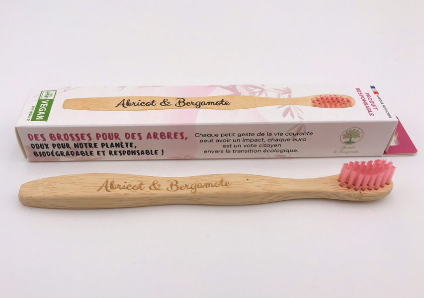 Abricot et Bergamote - Brosses à dent - Enfant rose