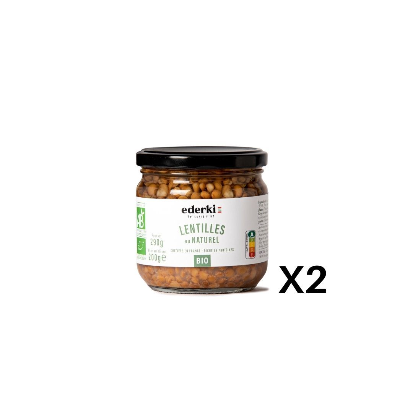 Ederki - Lentilles au naturel lot de 2
