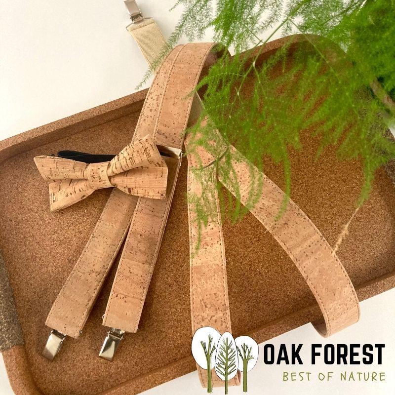 OAK Forest - Bretelles en liège naturel artisanal