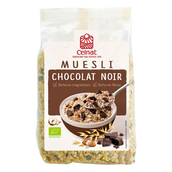 Celnat - Muesli chocolat noir 375g