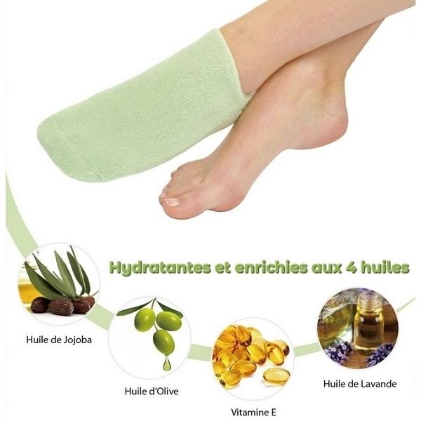 Zen' Arôme - Chaussettes Spa Hydratantes Vertes