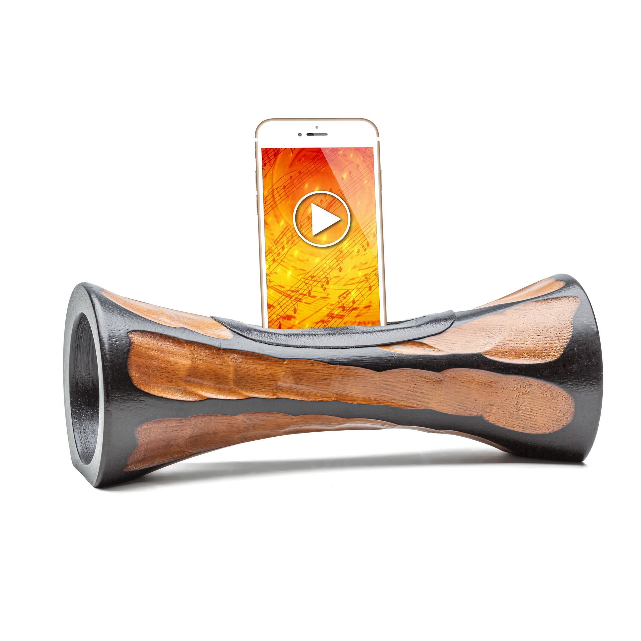 Mangobeat - MANGOBEAT - Enceinte en bois pour téléphone - Amplificateur son