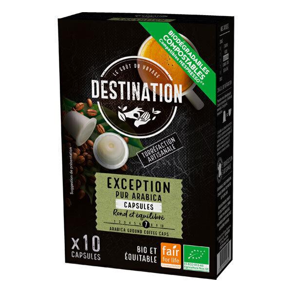 Destination - Exception pur arabica Capsules x10