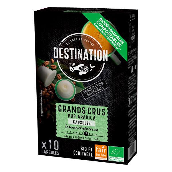 Destination - Grands Crus pur arabica Capsules x10