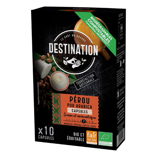 Destination - Pérou pur arabica Capsules x10