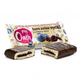 My Oath - Barre Avoine-Myrtille enrobée de chocolat Bio 50g