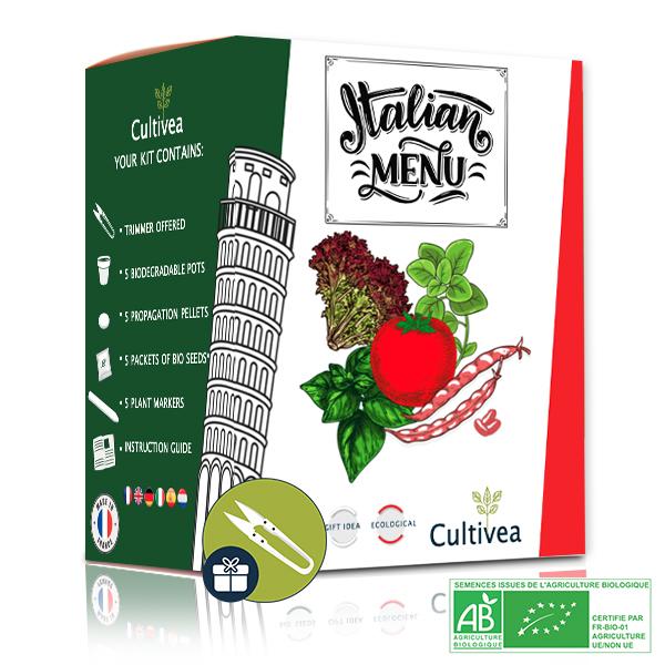 Cultivea - Kit Prêt à Pousser Menu Italien BIO
