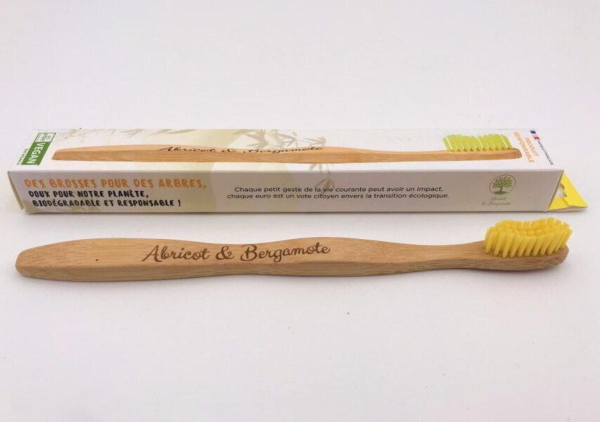 Abricot et Bergamote - Brosses à dent - Adulte jaune