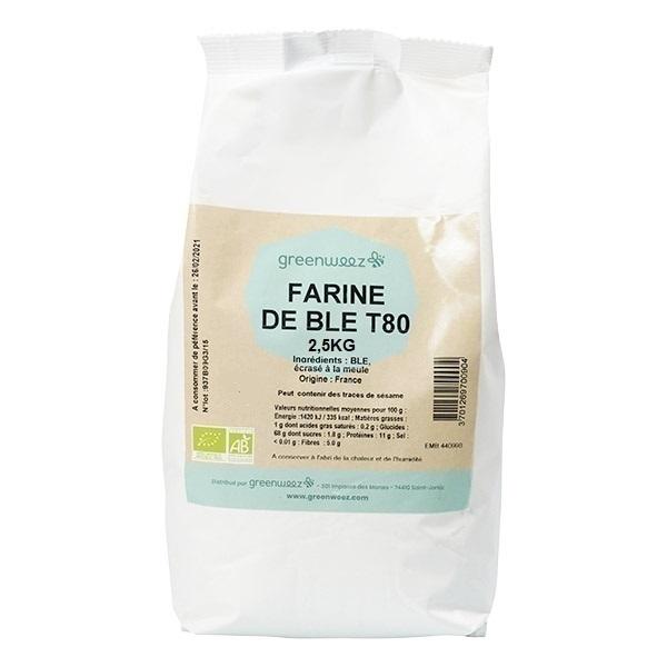 Greenweez - Farine de blé T80 meule France bio 2.5kg