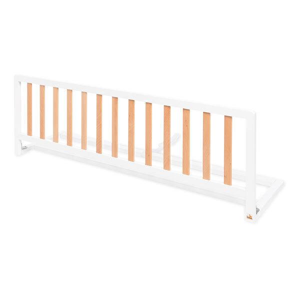 Pinolino - Barrière de lit Comfort, blanc / naturel 120 cm