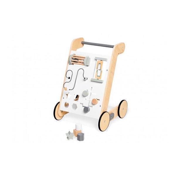 Pinolino - Chariot d'activités et de marche Tino blanc - Dès 1 an