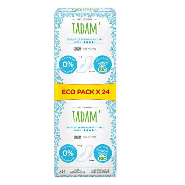 Tadam' - Serviettes Dermo-Sensitives Ecopacks Super + x24