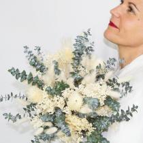 Réconciliation Végétale - Bouquet de fleurs sechees ivoire