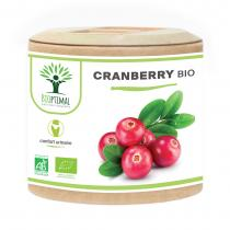 Bioptimal - Cranberry - Canneberge Bio - Certifie Ecocert 60 gelules
