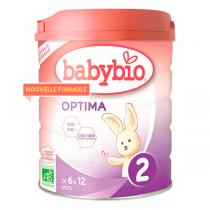 Babybio - Lot de 6 Optima 2 lait de suite bio 6-12 mois 800g