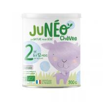 Junéo - Lot de 3 Lait de chèvre infantile bio 2ème âge 900g - De 6