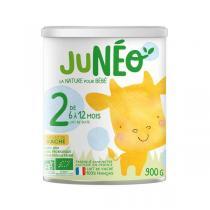 Junéo - Lot de 6 Lait infantile 2ème âge 900g - De 6 à 12 mois