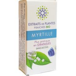Kosmeo B - MYRTILLE Teinture Mère de plantes fraîches Granules 0% ALCOOL