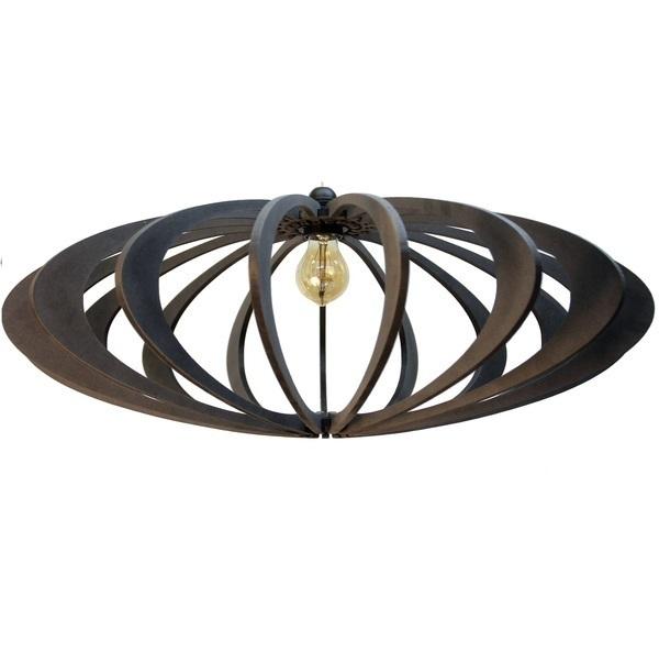 RIF - Suspension Design bois noir D70cm ROLLING BLACK - Kit noir