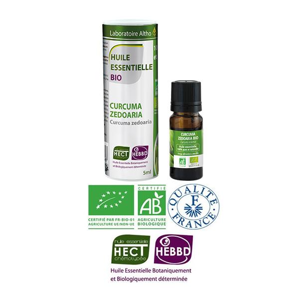 Laboratoire Altho - Curcuma Huile Essentielle Bio Chemotypee - 5ml