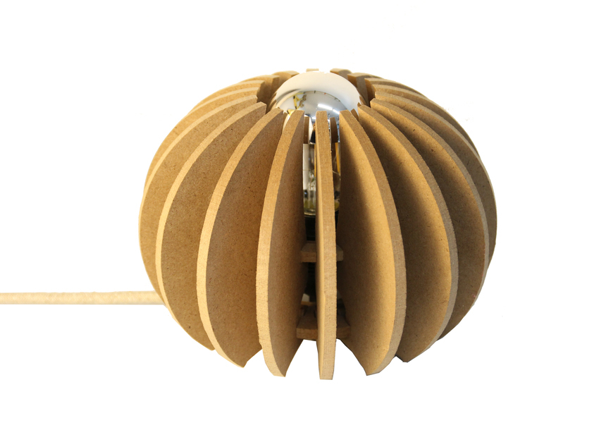 RIF - Lampe à poserboule D 20cm Wrecking Ball cable lin