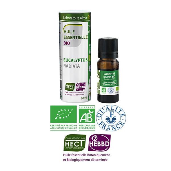 Laboratoire Altho - Eucalyptus Radiata Huile Essentielle Bio Chemotypee - 10ml