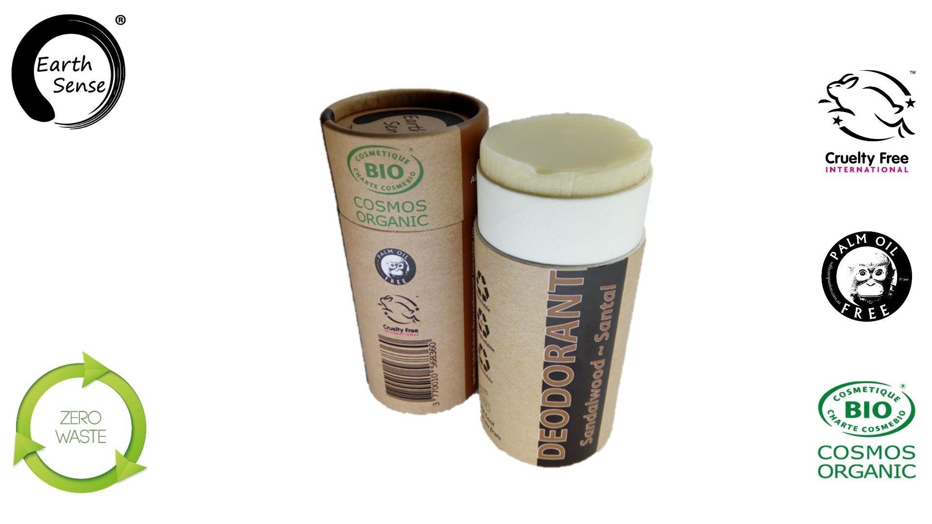 Earth sense organics - Deodorant naturel bio - Santal - 100ml