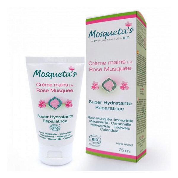 Mosqueta's - Crème Mains  Anti-âge et Réparatrice  2 en 1 douceur extrême