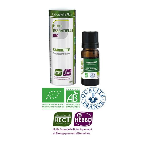 Laboratoire Altho - Sarriette Huile Essentielle Bio Chemotypee - 10ml