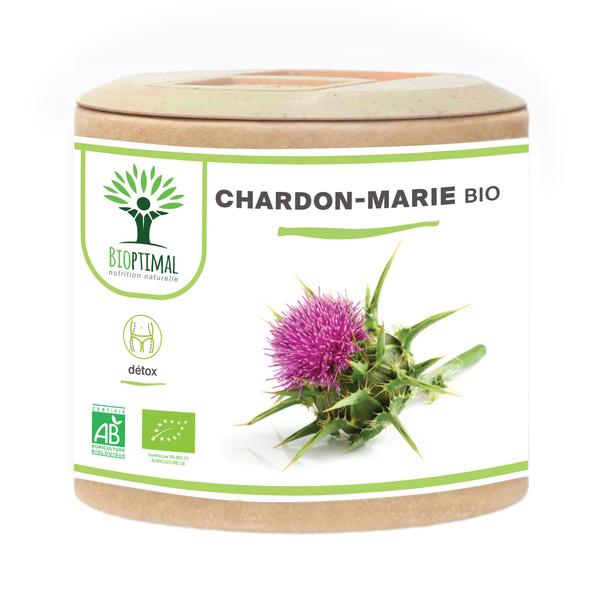 Bioptimal - Chardon-Marie Bio- Peau Grasse Beaute Made in France 60 gelules