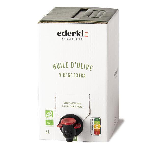 Ederki - Huile d'olive vierge extra bio - 3L