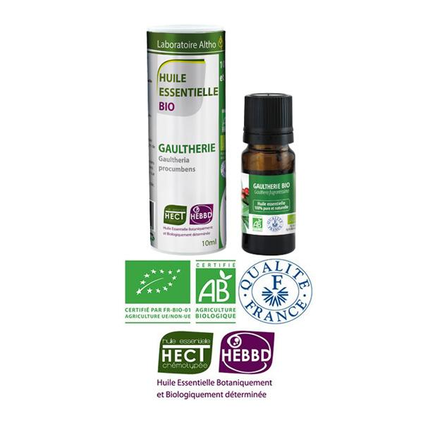 Laboratoire Altho - Gaultherie Huile Essentielle Bio Chemotypee - 10ml