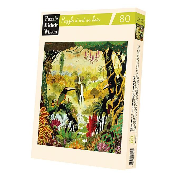 Michèle Wilson - Puzzle Michèle Wilson - Toucans A La Cascade 80