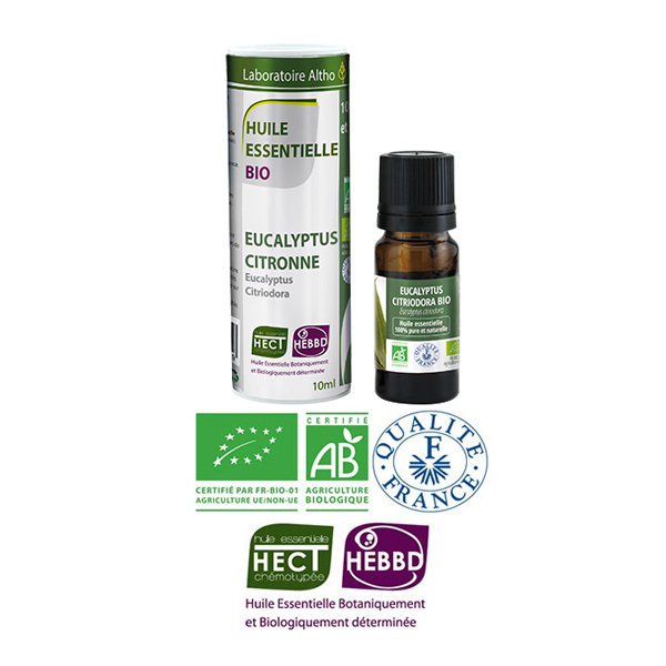 Laboratoire Altho - Eucalyptus Citronne Huile Essentielle Bio Chemotypee - 10ml