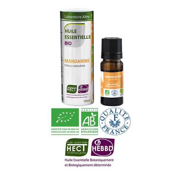 Laboratoire Altho - Mandarine Huile Essentielle Bio Chemotypee - 10ml