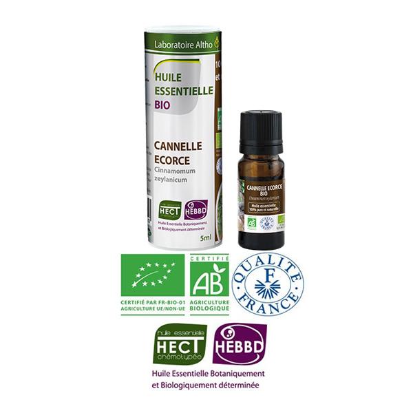 Laboratoire Altho - Cannelle Ecorce Huile Essentielle Bio Chemotypee - 5ml