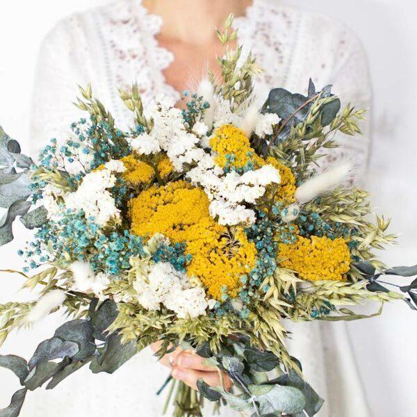 Réconciliation Végétale - Bouquet de fleurs sechees a base d'Achillea parker