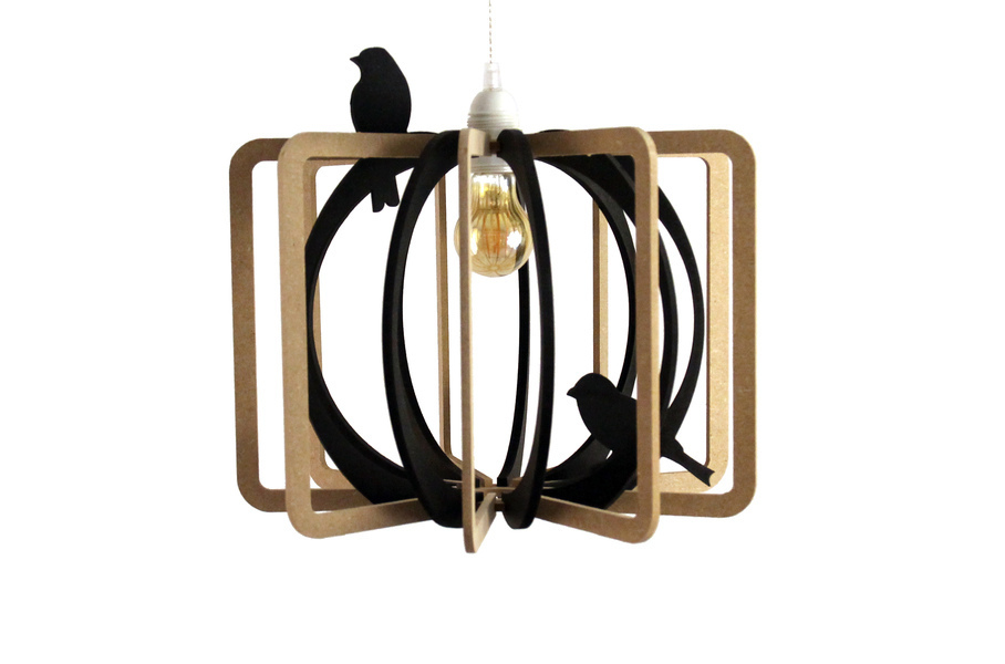 RIF - Suspension Design D36cm CAGE AUX OISEAUX kit noir