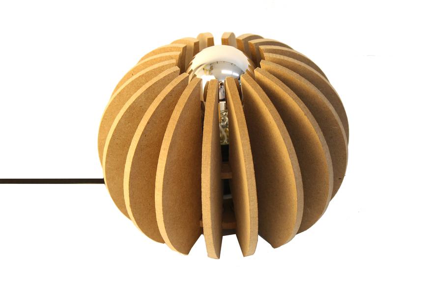 RIF - Lampe à poser boule D 20cm Wrecking Ball cable noir