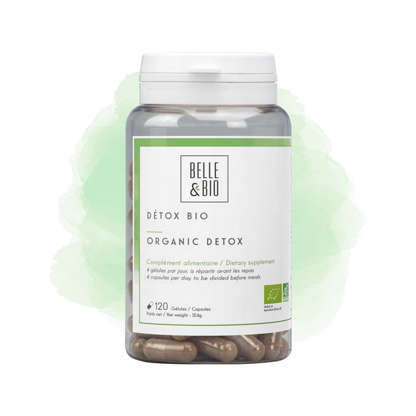 Belle & Bio - Detox Bio - 120 Gelules - Certifie AB par Ecocert