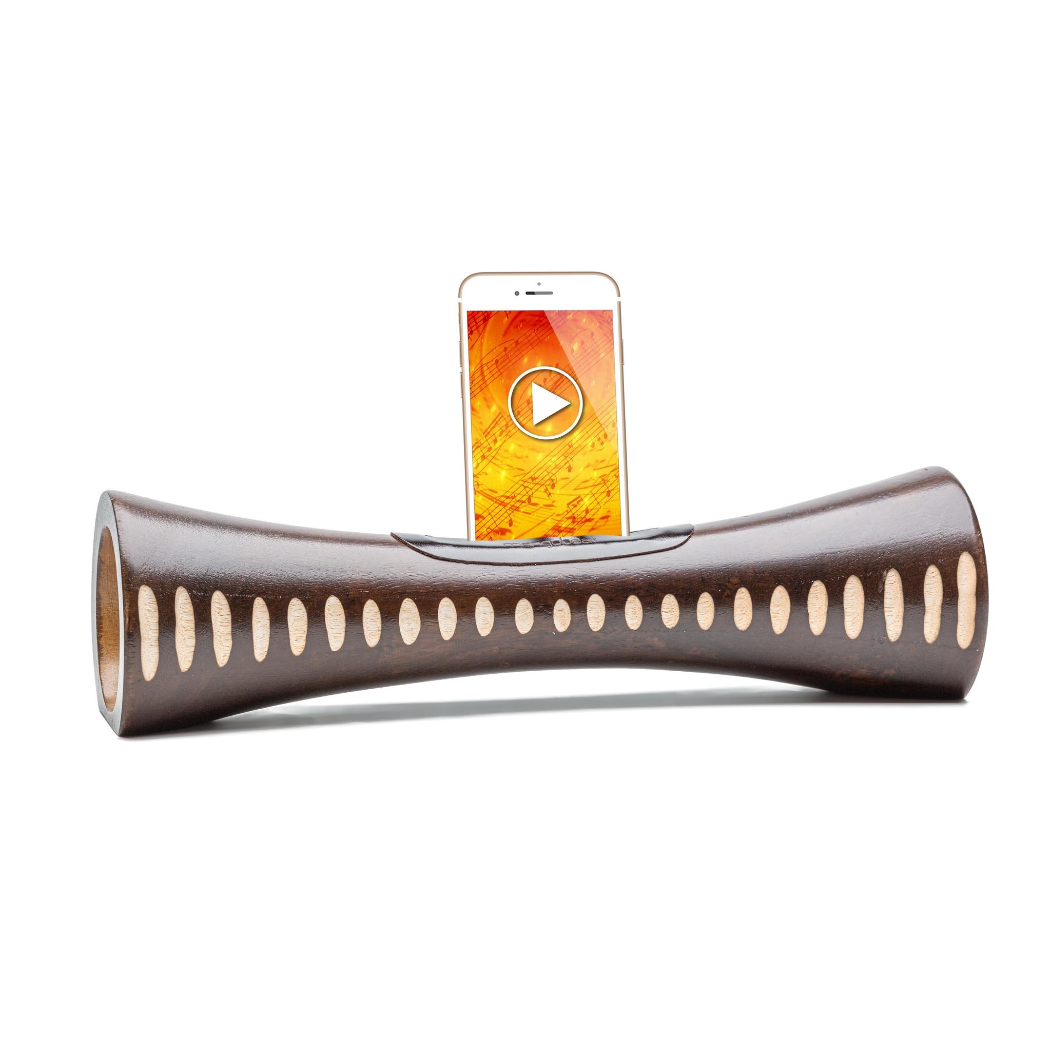 Mangobeat - MANGOBEAT - Enceinte Sans fil en bois - Amplificateur Naturel