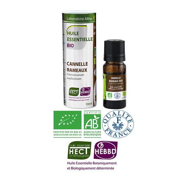 Laboratoire Altho - Cannelle Rameaux Huile Essentielle Bio Chemotypee - 10ml
