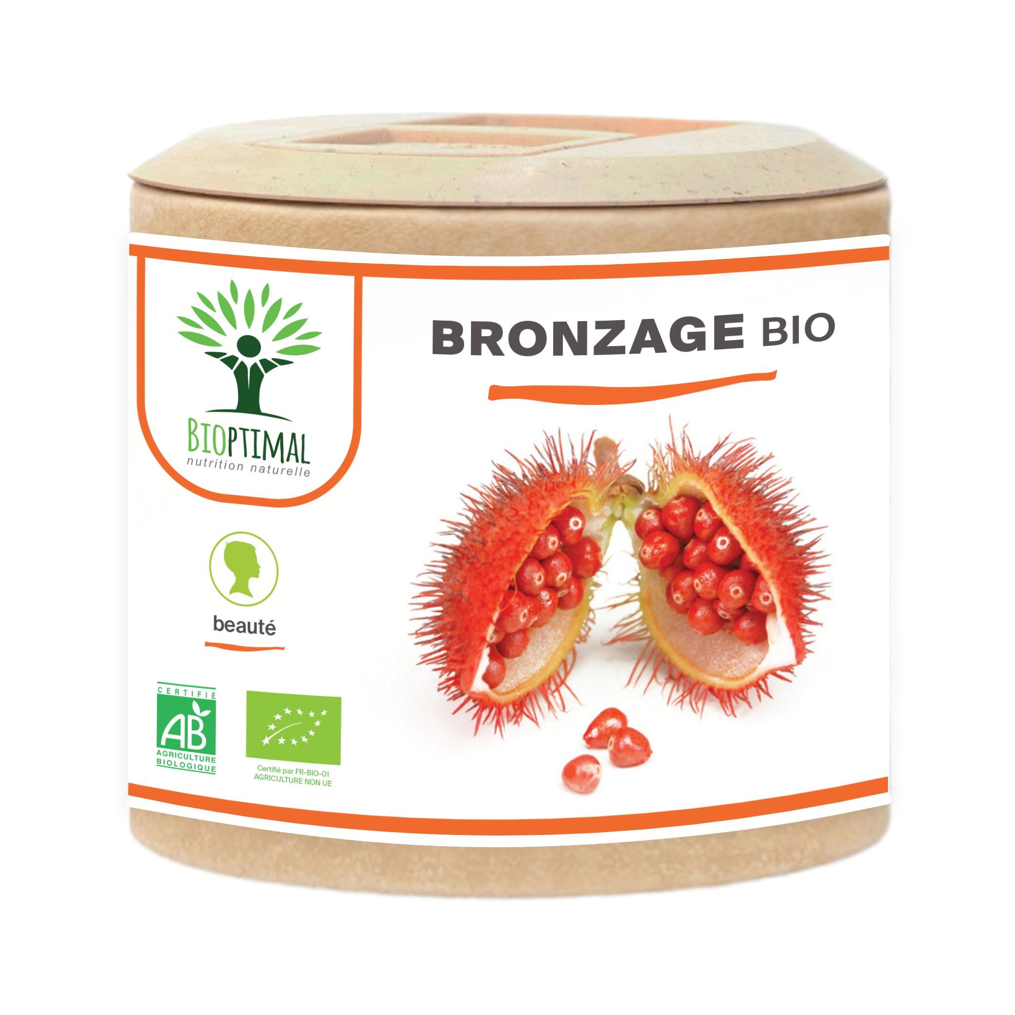 Bioptimal - Bronzage bio - Complement alimentaire Urucum Soleil- 60 gelules