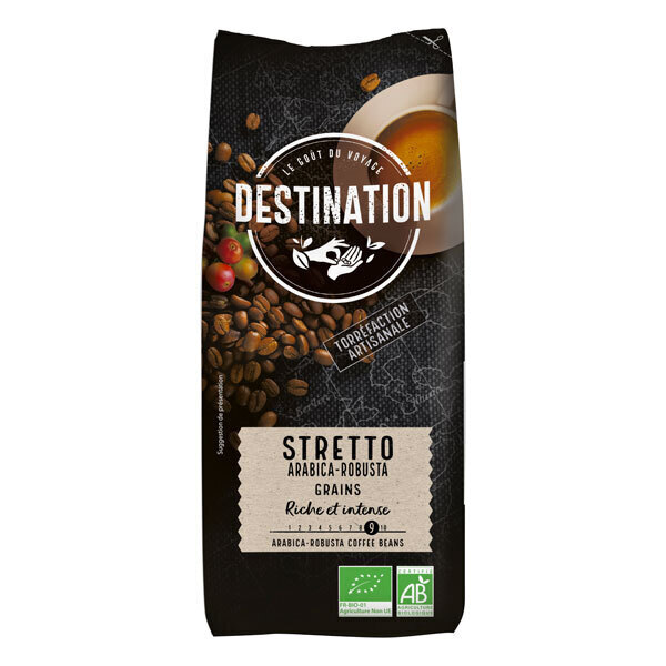 Destination - Café grain Stretto arabica robusta 1kg