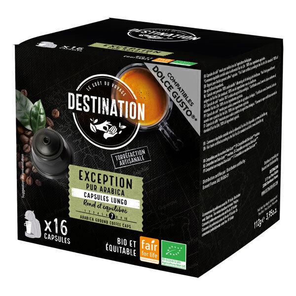 Destination - Exception pur arabica Capsules compatibles Dolce Gusto x16