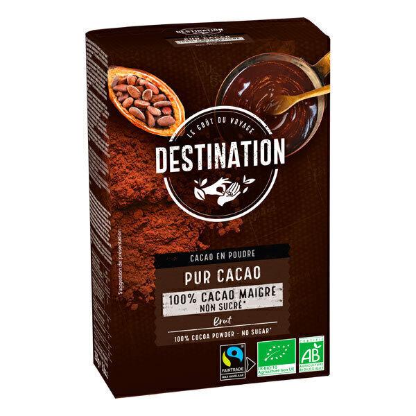 Destination - Pur cacao maigre non sucré 250g