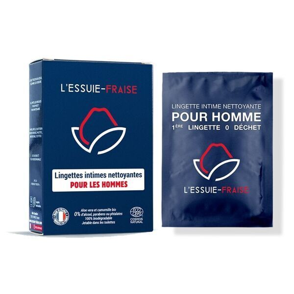 L'Essuie-Fraise - L'Essuie-Fraise - 7 lingettes intimes individuelles pour homme