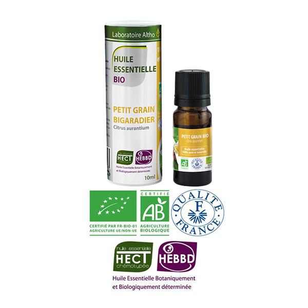 Laboratoire Altho - Petit Grain Bigaradier Huile Essentielle Bio Chemotypee - 10ml