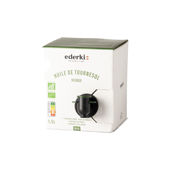 Ederki - Huile de tournesol vierge bio - 1,5L