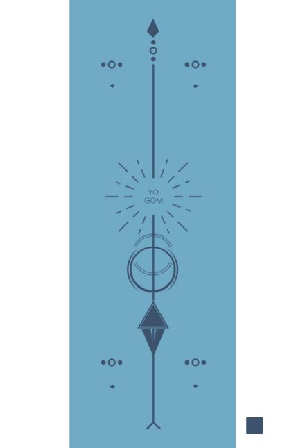 Yogom - Tapis de Yoga Star Solaire Bleu